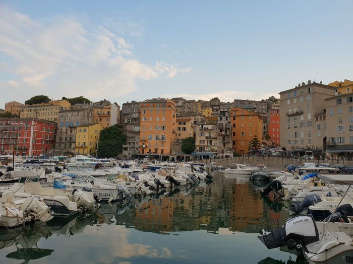 Bastia old port Port Bastia Corsica Water Nautical Vessel City Reflection Cityscape Sea Residential Building Sky Building Exterior Architecture Marina