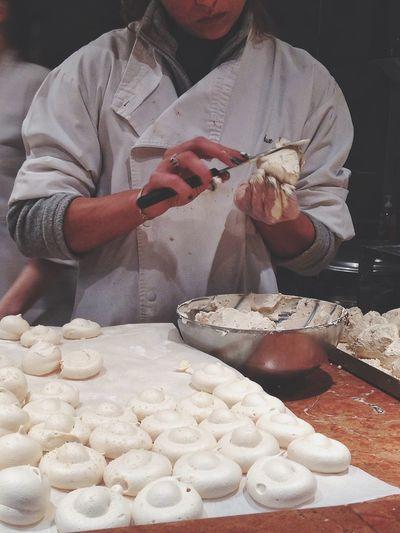 Close-up of preparing food