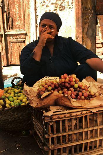Bazaar Cairo Cairo Egypt Egypt Looking At Camera Market Portrait Of A Woman Woman Fruit Stall Khan El Khalili Market Stall Women Around The World