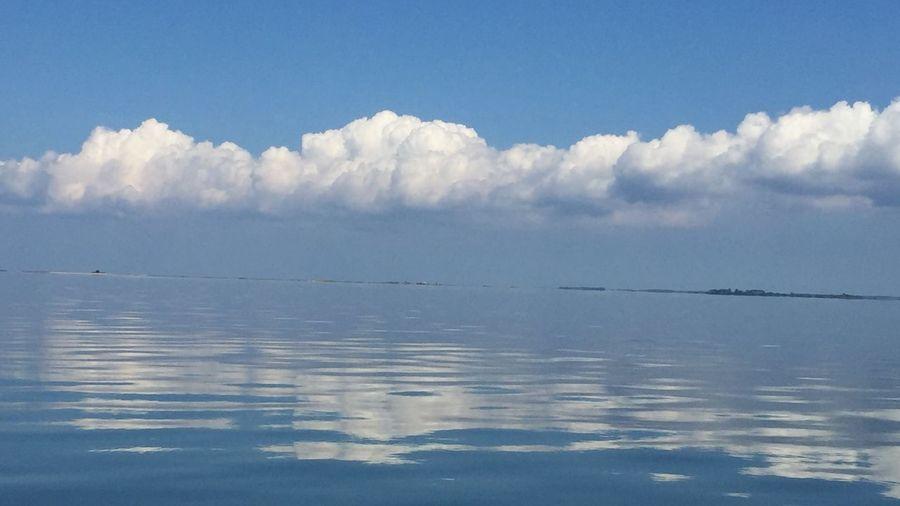 Calming Sea Tranquil Scene Water Reflection Sea Blue Cloud Calm Sky Seascape Cloud - Sky