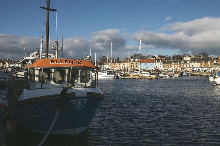 View of marina at harbor