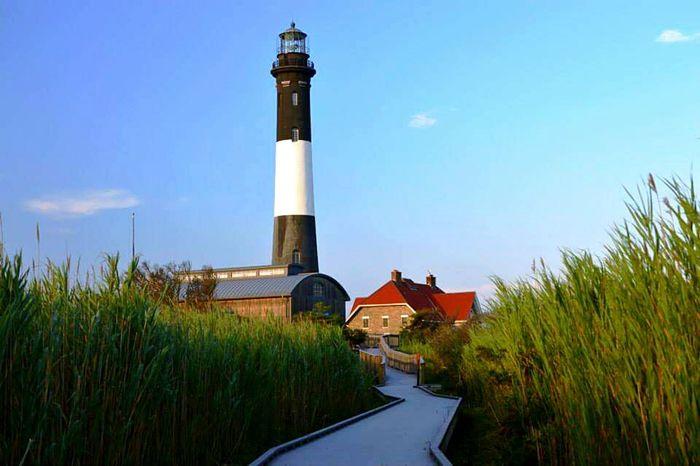 Lighthouse Fireisland Robertmoses Boardwalk Beachboardwalk Longisland Suffolkcounty Summerwalk Summer2015 Lighthouses