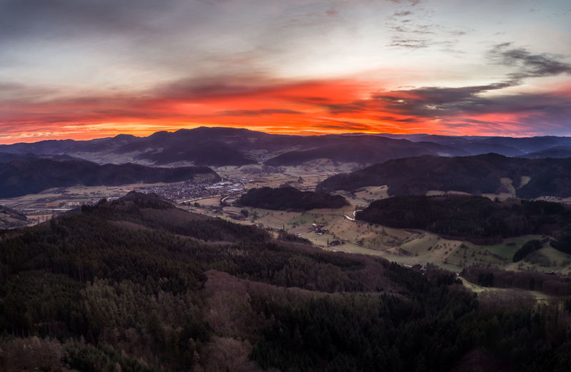 Beauty In Nature Black Forest Day Drone  Landscape Morning Mountain Mountain Range Nature No People Outdoors Scenics Sky Sunrise Sunset Tranquil Scene Tranquility Tree