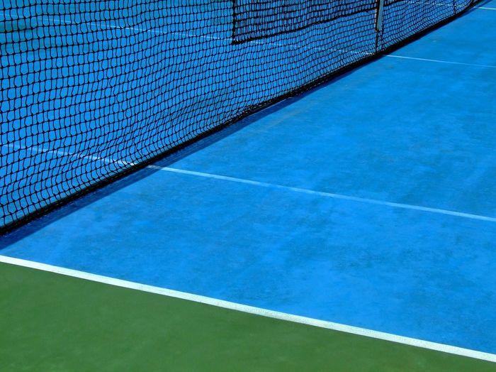 Full frame shot of tennis court