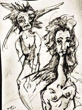 Emotions series Emotions emoArt Drawingaday Sketch Blackandwhite Selfportrait