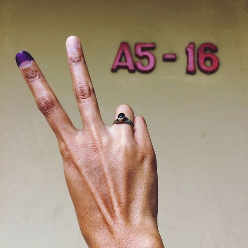 Every vote counts. Human Hand Human Finger Communication Close-up Vote Voting Voted  Election Governer Jakarta