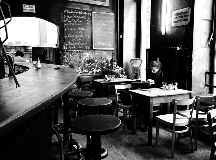 Day 200 - Im Restaurant Berlin Blackandwhite Restaurant 365project 365florianmski Day200