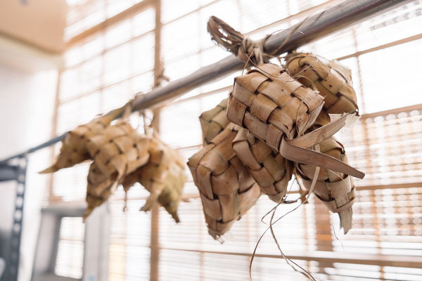 Hari Raya Aidilfitri Ketupat Malaysian Food Animal Architecture Built Structure Ceiling Close-up Day Focus On Foreground Food Food And Drink Hanging Indoors  Nature Rope Still Life String Tied Up