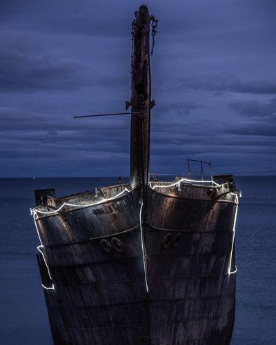 Ghost Boat Old Ruin Naufragio Water Nautical Vessel Sea Sailing Ship Sky Close-up Horizon Over Water Sailboat