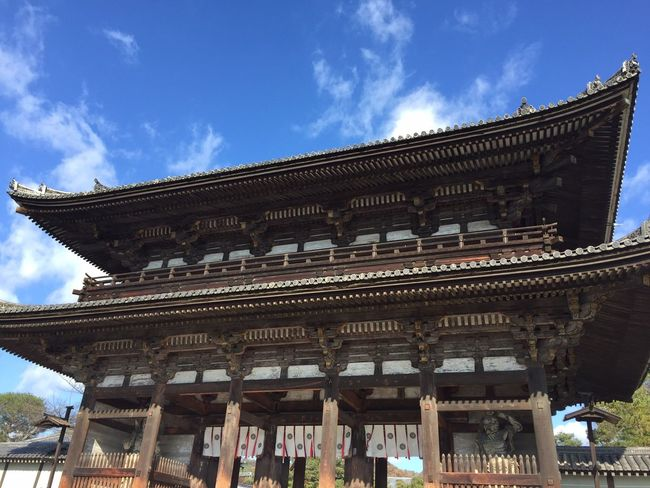Famous Place Day History Arch Tall - High Clear Sky Culture Sky Art Blue 仁和寺
