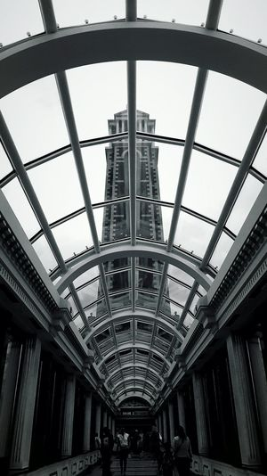 This Is Perspective day 24. Looking Up Not Ahead Blackandwhite Shopping Centre Glass Ceiling Tower
