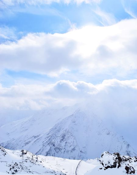 Caucasus Elbrus Russia Beauty In Nature Cold Temperature Day Frozen Idyllic Landscape Mountain Mountain Range Nature No People Outdoors Scenics Sky Snow Snowcapped Mountain Snowdrift Tranquil Scene Tranquility Weather White Color Winter Россия Shades Of Winter