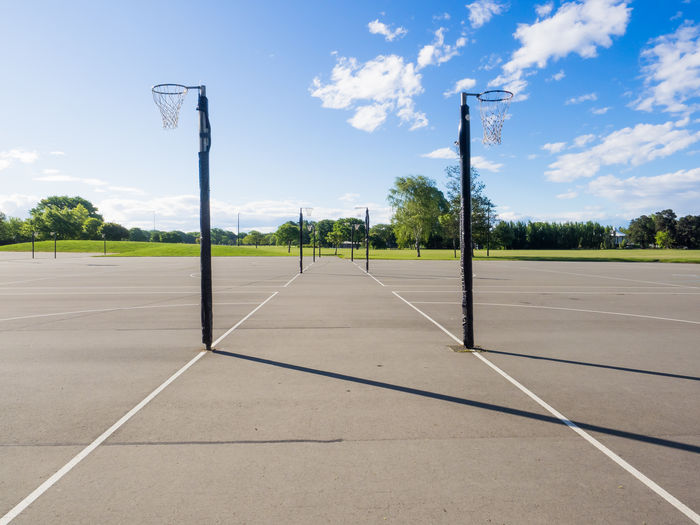 Christchurch Christchurch New Zealand Basketball - Sport Basketball Hoop Cloud - Sky Court Day Goal Post No People Outdoors Playing Field Sky Soccer Soccer Field Sport Tree Fresh On Market 2017