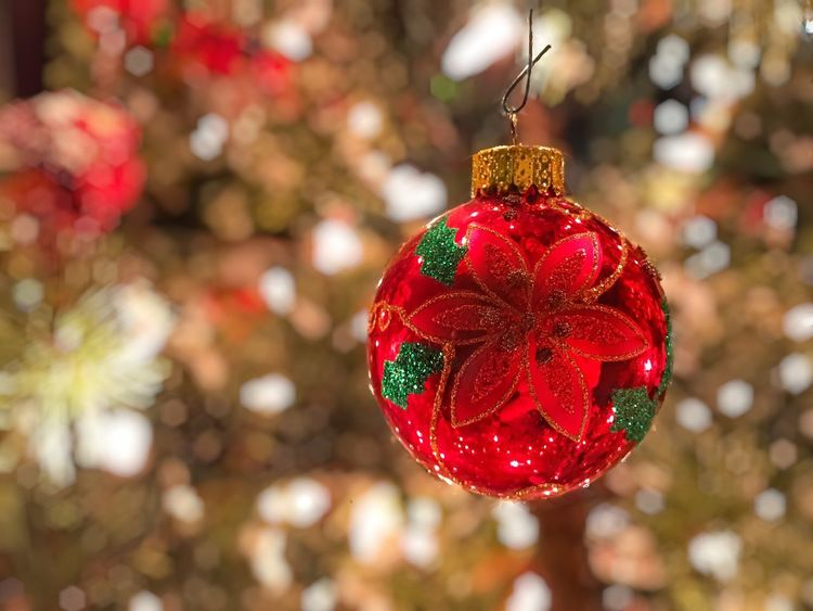 Be. Ready. Christmas Christmas Decoration Christmas Tree Celebration Christmas Ornament Decoration Focus On Foreground Red Tradition Bauble Hanging Close-up Holiday - Event Christmas Lights No People Vacations Tree Outdoors Day