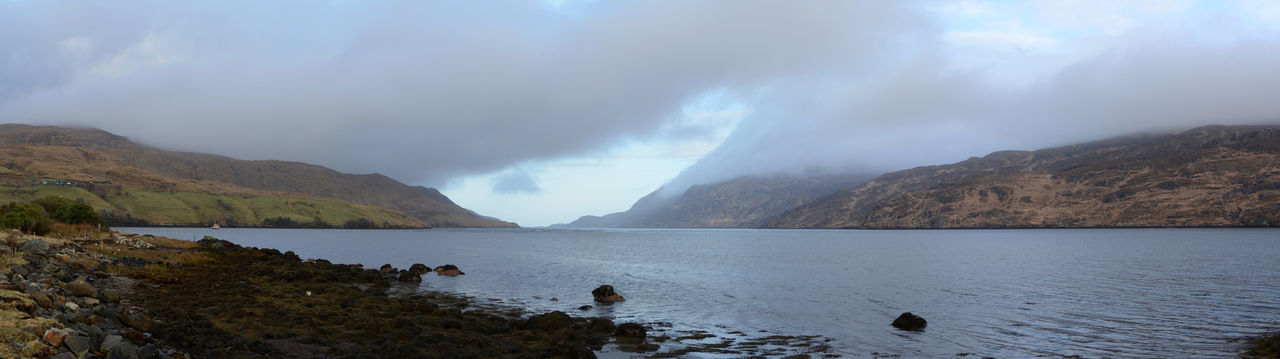 Killary Harbour Panorama Fjord Mountain Mussel Farm Outdoors Scenics Water