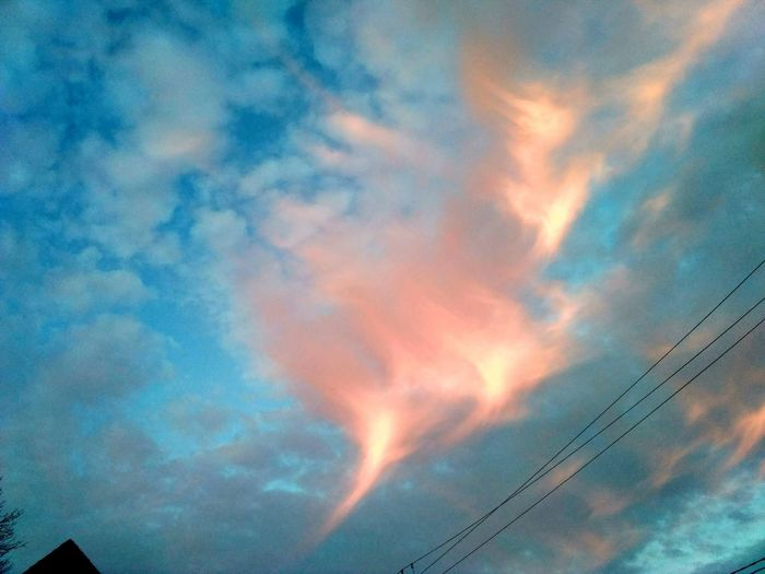 Amazing Sunset Phoenix Cloud Beauty In Nature Blue Cable Cloud - Sky Cloudscape Day Dramatic Sky Electricity  Low Angle View Meteorology Nature No People Orange Color Outdoors Power Line  Power Supply Scenics - Nature Sky Technology Telephone Line Tranquil Scene Tranquility