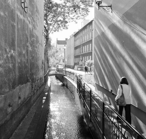 Light Magic And A Hurrying Woman Gdańsk 1 July 2015 Iphone 6 Plus IPhoneography Streetphotography Light And Shadow Vintage EyeEm Masterclass EyeEm Best Shots EyeEm Best Edits Gdansk (Danzig) The Street Photographer - 2015 EyeEm Awards