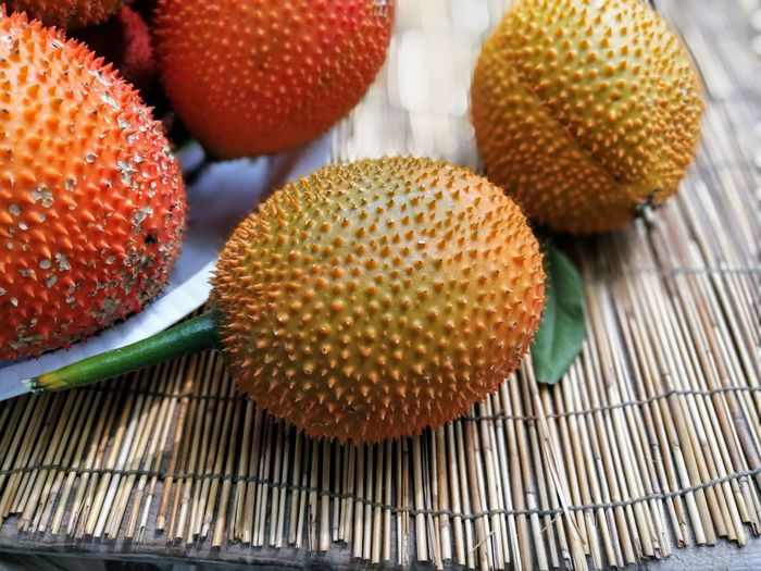 gac fruit Tropical Fruits Close-up Day Food Food And Drink Freshness Fruit Gac Fruit Healthy Eating Indoors  No People Ready-to-eat Sweet Food