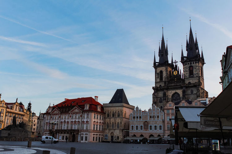 View of old town square in prague
