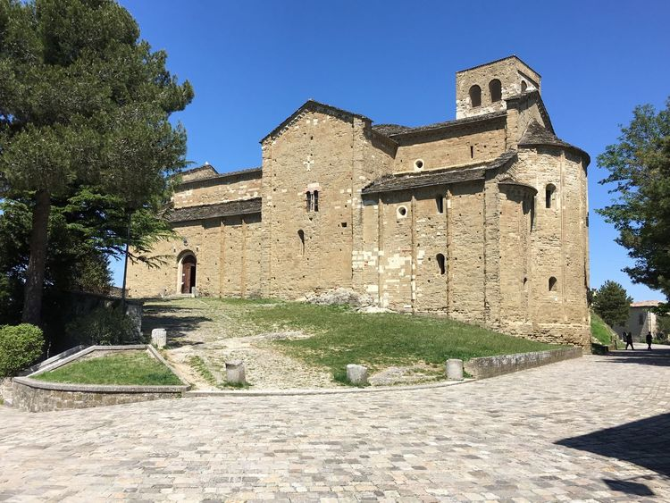 Architecture History Built Structure Building Exterior Ancient Sunlight Day Castle Clear Sky Outdoors No People Tree Ancient Civilization Sky San Leo Montefeltro Church Duomo