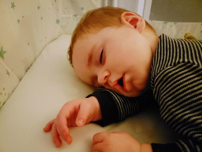 Cute baby boy sleeping