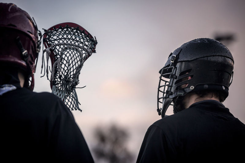 Close-Up Of Lacrosse Players