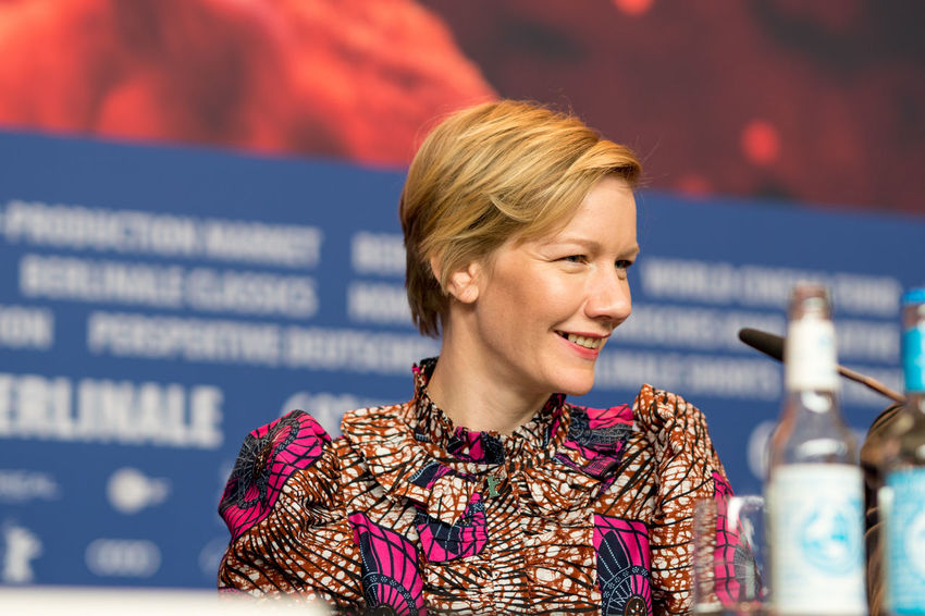 Berlin, Germany - February 23, 2018: German actress Sandra Hueller attends the film 'In the aisles' (In den Gaengen) press conference during the 68th Berlinale International Film Festival 2018 Famous Film Festival German Interview One Person Only Press Sandra Hueller Sandra Hüller The Media Woman Actress Berlinale Berlinale 2018 Berlinale Festival Berlinale2018 Berlinale68 Film Industry Mass Media One Person One Woman Only Press Conference