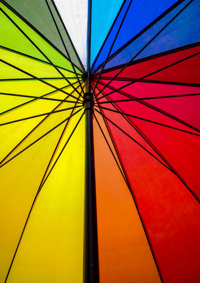 Full frame shot of colorful umbrella
