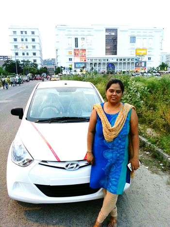 Hello World That's Me Infront of our new car