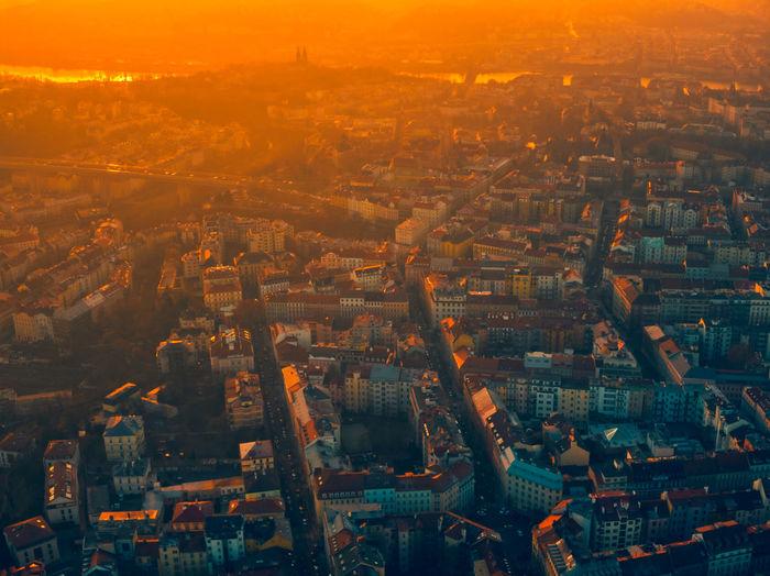 Prague aerial summer