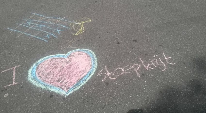 Handwriten sidewalk chalk in a heart shape. Kids Kids Being Creative Kids Being Kids Chalk Drawing Childrens Drawing Handwriting  Heart Shape Love Outdoors Playground Playing Outdoors Playing Outside Sidewalk Chalk Text