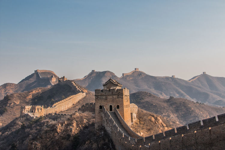 Scenic View Of Great Wall Of China Against Sky