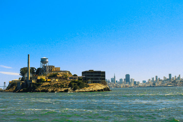 Where love happen. Alcatraz Bay Area Ocean Prison San Francisco Skyline Watertower