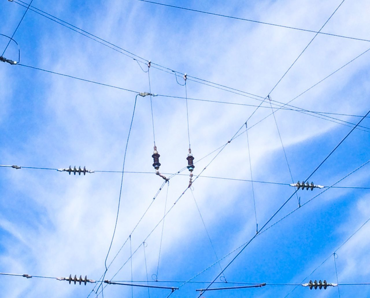 Low Angle View Of Cables Against The Sky