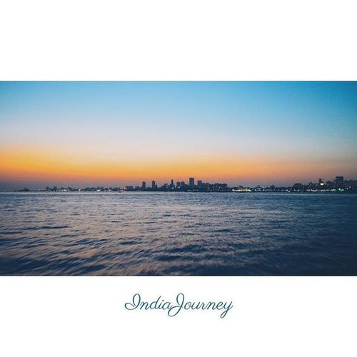 I'm in love with cities I've never been to and people I've never met Location - Ferry ride from Elephanta Caves, Mumbai, India IndiaJourney MumbaiSkyline