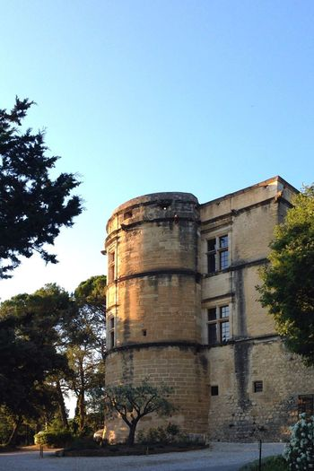 Castle of Lourmarin Park Holiday Village Tower Wall France Moody Evening Light Evening Lourmarin Provence Burg Castle Built Structure Sky Architecture Building Exterior Tree Plant Clear Sky No People Building History Outdoors Old The Past