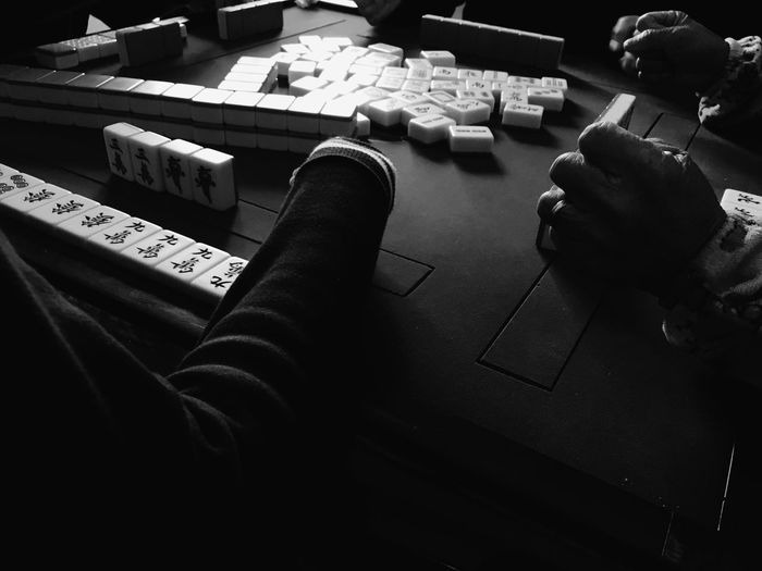 Mahjong Game Chinese China Mahjong Tiles Black And White Blackandwhite IPhoneography Culture Traditional Culture Travel