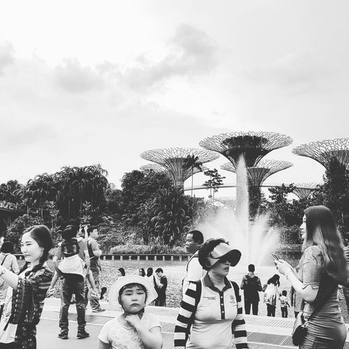 Tourists Sg_streetphotography Streetphotography Bnw_streetphotography Supertrees Architecture Sg_architecture Gardens By The Bay Singapore