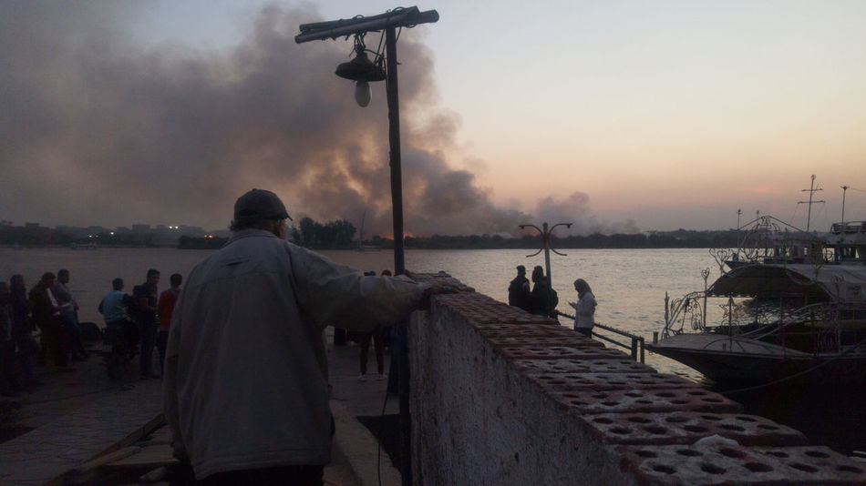 Cairo Egypt Nile River Smoke Fire Nile Real People River Sky Sunset égypte The Street Photographer - 2018 EyeEm Awards