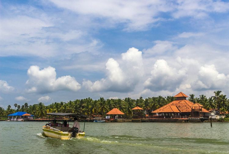 Architecture Cloud - Sky Nautical Vessel Water Backwaters Of Kerala Nature Day Outdoors Sky Tree Palm Trees Beauty In Nature EyeEm Gallery EyeEm Nature Lover Poovar Kerala