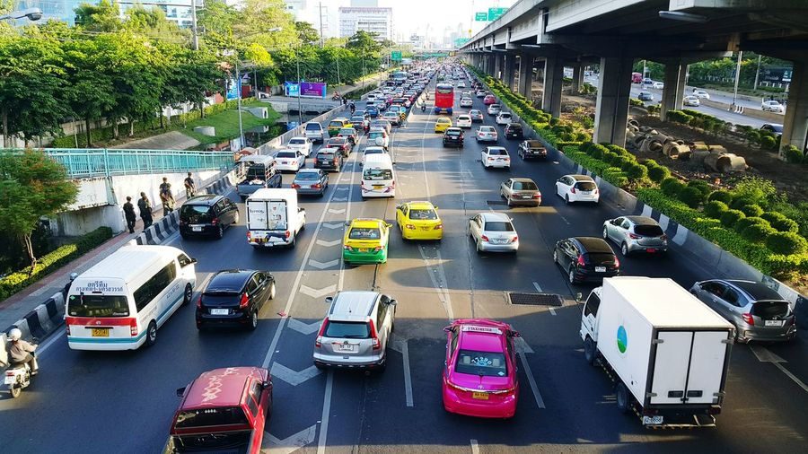 Everybody have life on the road ,after Woking Time. Traffic Traffic Jam Trafficjam
