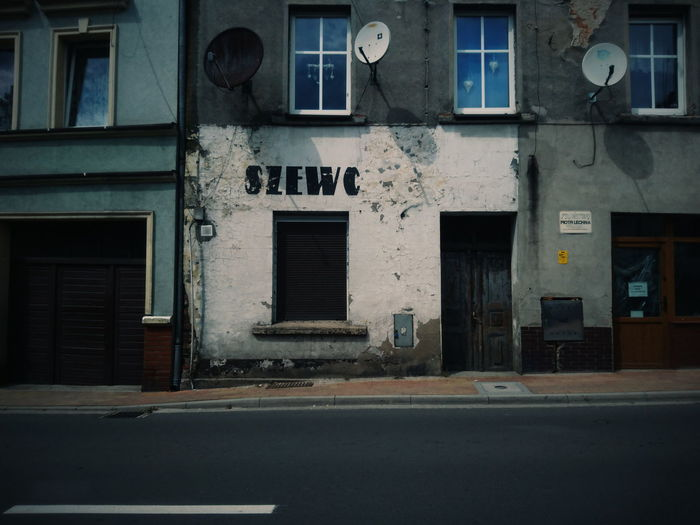 It was shoemaker... Architecture Window Building Exterior Street Built Structure No People Outdoors City EyeEm Best Edits EyeEm Best Shots VSCO Street Photography Abandoned Places