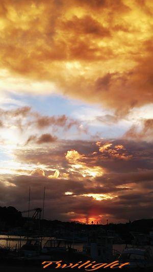 台風…大丈夫かなぁ(^_^;))) Miyazaki Kushima Twilight Yuka  Healing Fresh Air 夕凪 Pray For Kyushu