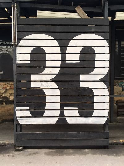 Number 33 Signs 33 Numbers Urban Typography Old-fashioned City No People Outdoors Close-up Day