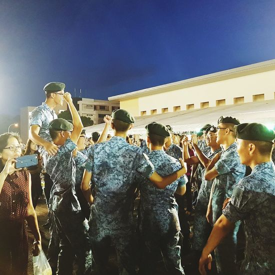 Elation Soldiers Passing Out Parade Graduation Basic Military Training Sembawang Camp 7 Sept 2017 Singapore