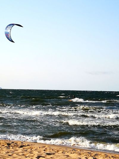 Water Flying Sea Extreme Sports Beach Paragliding Wave Mid-air Motion Sunset
