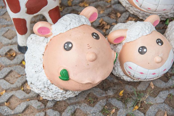 Farm Animal Animal Themes Baby Sheep Cute Outdoor Park Sculpture Sheep Sheep Farm Sheep Statue White Sheep