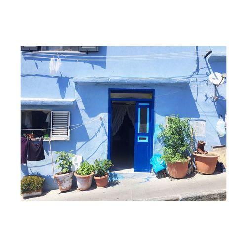 House Architecture Door Blue No People Façade Plant Shadow European City Weekend