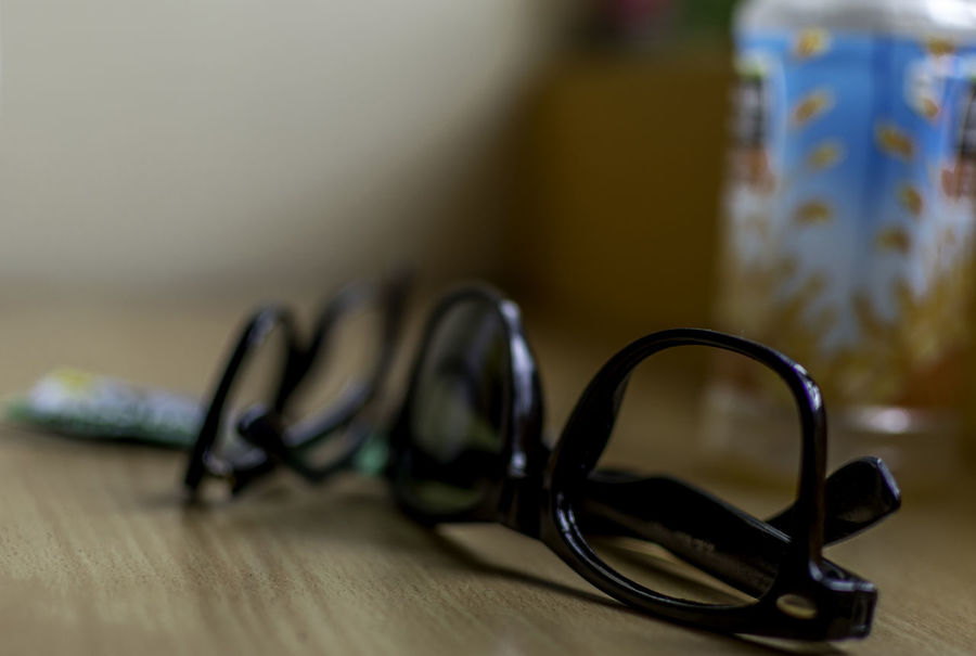 Glasses Close-up Focus Indoors  Selective Focus Specticals Still Life Table