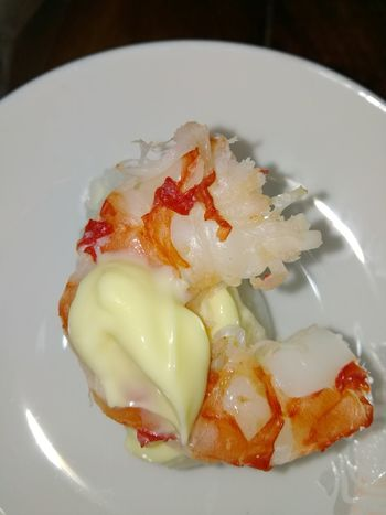 Yummy Selfmade Plate Shrimp Sushi Ready-to-eat Prepared Food Seafood Served Rice